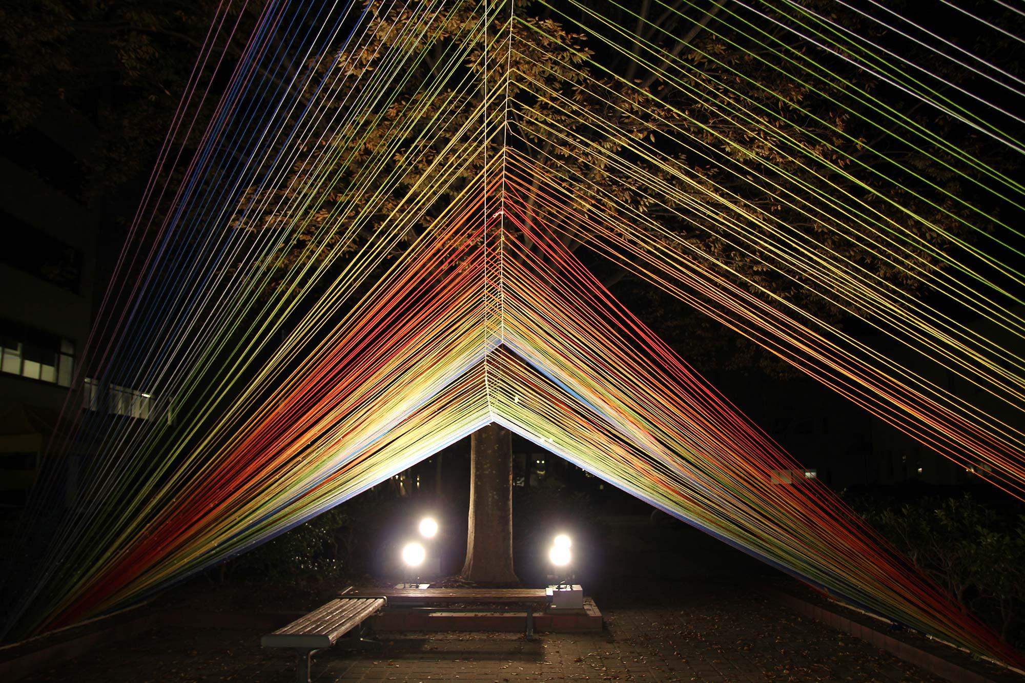 写真:光の束2